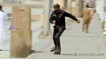 Internet reacts to Pakistan's rollerblading cops