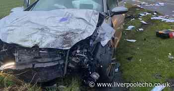 Witness recalls horror smash which shut major Merseyside road