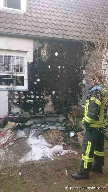 Mülltonnenbrand beschädigt Fassade In Augsburg-Lechhausen - Presse Augsburg