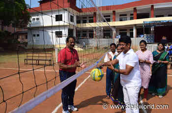 Mangaluru: Intercollege women's throwball tournament held by University evening college - Daijiworld.com