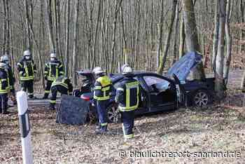 Zwei Verletzte bei Unfall auf B41 bei Neunkirchen - Blaulichtreport-Saarland