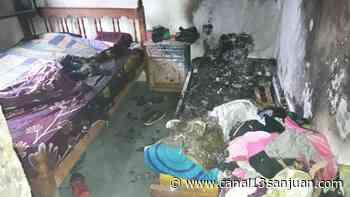 El drama de una familia en Santa Lucía: un incendio los dejó con lo puesto - Canal 13 San Juan TV