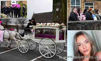 Hundreds of mourners wearing pink attend funeral of carer, 19, found dead in woodland