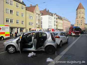 Augsburg | Sechs Verletzte bei Unfall mit Linienbus in der Jakobervorstadt