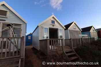Beach hut up for sale at £325,000 in Mudeford Sandbank