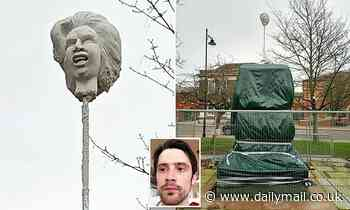 Police probe statue of Margaret Thatcher's head on a pike
