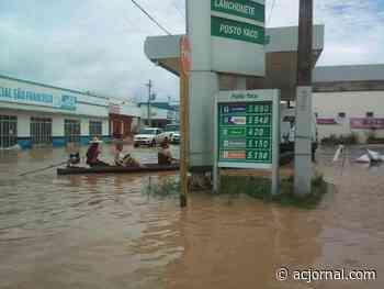 Rio Yaco tem discreta vazante, mas o cenário ainda é desolador; veja o vídeo - AC JORNAL