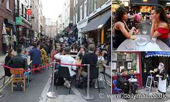 Al fresco dining is set to return to 60 streets around the West End including Soho from April 12