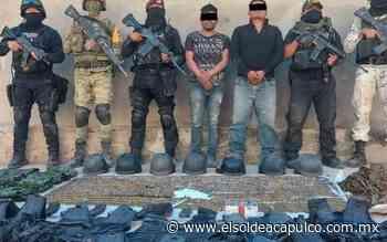Detienen a dos hombres con presunta droga y equipo táctico en Huitzuco - El Sol de Acapulco