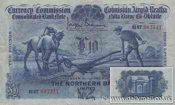 Online bidder pays £18,000 for 'extremely rare' £10 note that was printed in 1929