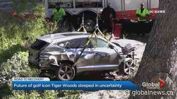 Car crash leaves golf icon Tiger Woods with significant leg injuries