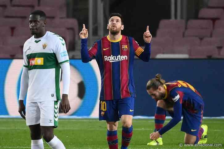 Messi es líder goleador (y guía al Barcelona ante el Elche)