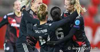 Der FC Bayern München und der VfL Wolfsburg im Achtelfinale der UEFA Women's Champions League - SPORT1