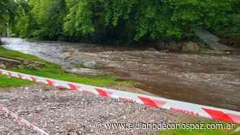 Llegó una creciente al río de Agua de Oro - El Diario de Carlos Paz