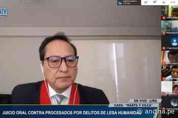 Poder Judicial realiza audiencia de juicio oral de caso Manta y Vilca - Agencia Andina