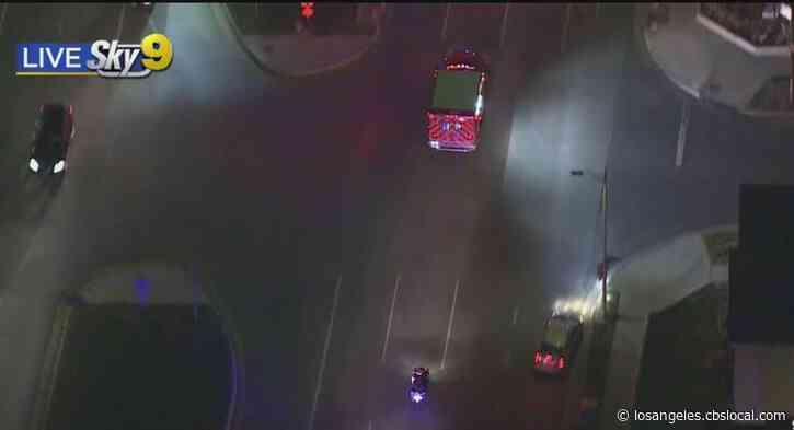 LAPD Motorcycle Officer Taken To Hospital After Crash