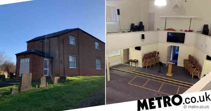 Coffin-shaped former chapel that backs on to a graveyard is on sale for £320,000