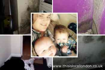 Family in mouldy flat with 'drug addicts around'