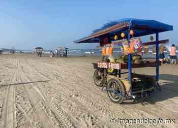 Vendedores ambulantes incumplen medidas sanitarias en playas de Tuxpan - Imagen del Golfo