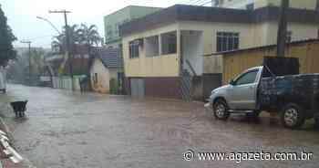 Chuva rápida e forte em Alfredo Chaves deixa ruas alagadas - A Gazeta ES