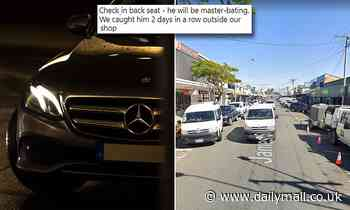 Mercedes-driving nuisance is spotted 'naked' pleasuring himself inside his luxury car