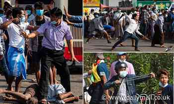 Anarchy in Myanmar as supporters of the junta attack pro-democracy protesters