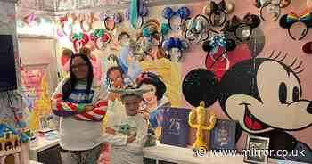 Mum spends £22,000 transforming her two-bedroom house into a Walt Disney shrine
