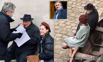 PICTURED: Gerard Depardieu back on set being charged with raping and sexually abusing an actress