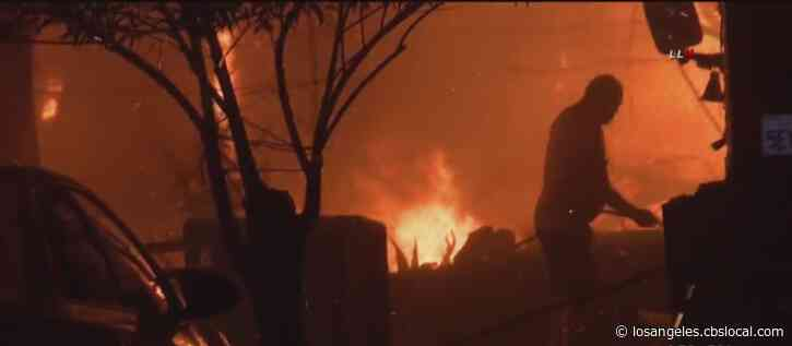 At Least 2 Homes Destroyed When Wind-Whipped Fire Rips Through Bloomington Neighborhood
