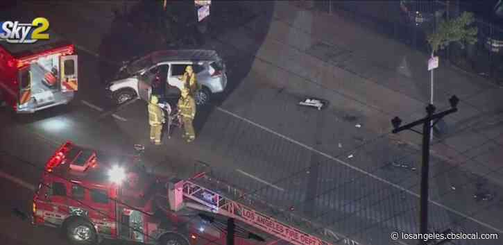 2 People Killed, 3 Critically Hurt In Violent South LA Collision