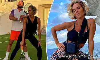 Pip Edwards owns the tennis court as she turns a friendly game into a fierce fashion show