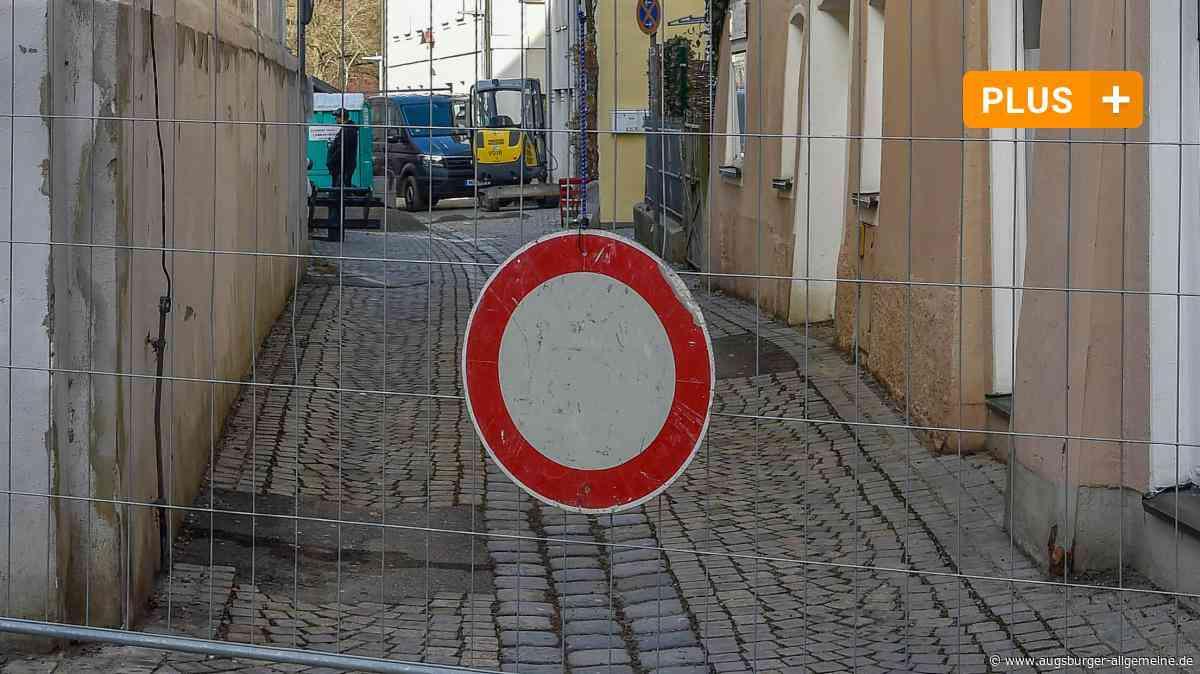 Landsberg: Bauzaun versperrt Weg in die Tiefgarage