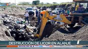 Más de 1,500 botellas de cervezas y ron fueron destruidas en Alanje - Telemetro