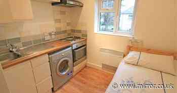 Tiny London flat with bed in kitchen on sale for £115k - same as Leeds three-bed