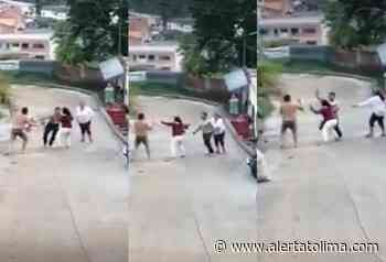 ¡Intolerancia! Dos sujetos se dieron machete y cuchillo en Rioblanco - Alerta Tolima