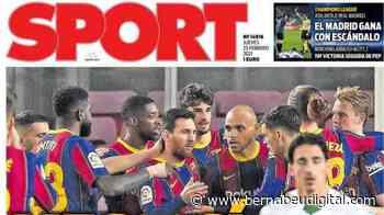 """PORTADA - Sport, con la victoria del Barcelona: """"Messi sí tira del carro"""" - bernabeudigital.com"""