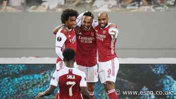 Saka 8/10, Auba 7/10 as Arsenal rally past Benfica