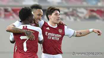 Aubameyang continues fine cup run as Arsenal survive Benfica scare