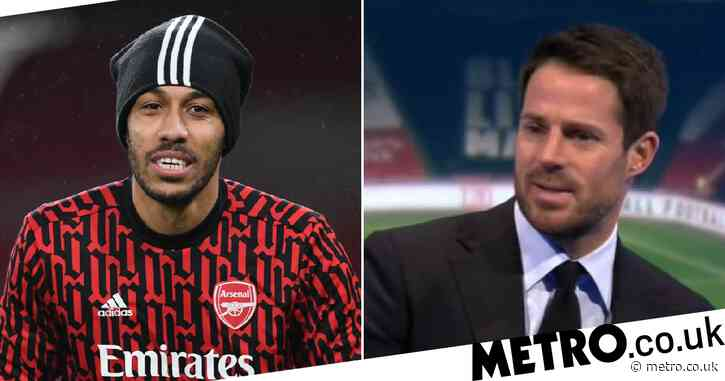 Pierre-Emerick Aubameyang calls out Jamie Redknapp after match-winning brace for Arsenal against Benfica