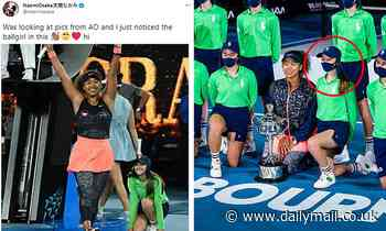 Australian Open champion Naomi Osaka tweets photo of ballgirl