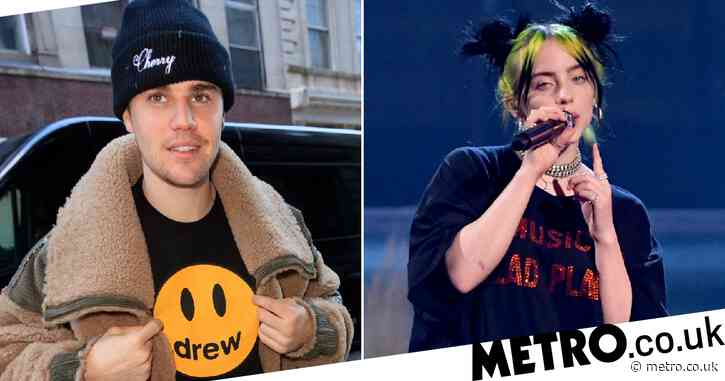 Billie Eilish sobs as she reveals moving first message from hero Justin Bieber