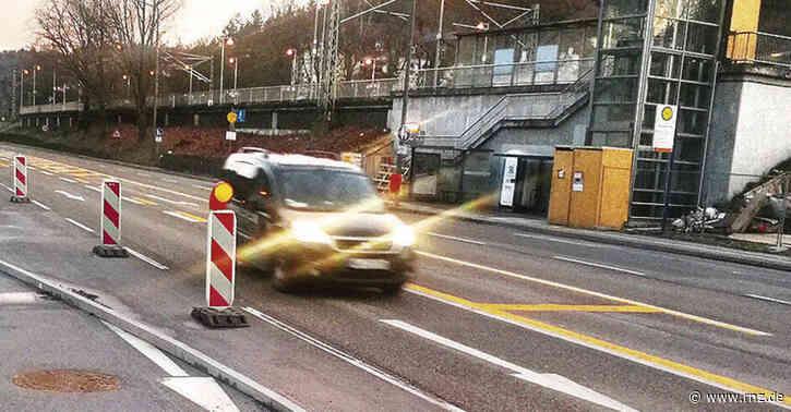 Neckargemünd/Heidelberg:  B37-Radspur brachte 27-jährigen Radler zu Fall