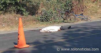 Nacionales Ciclista muere al ser arrollado en calle a San Juan Opico, La Libertad - Solo Noticias