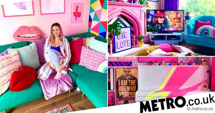 Mum transforms boring beige rented home into glorious pink paradise