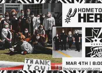 SAN ANTONIO SPURS HONOR HOMETOWN HEROES ON MARCH 4