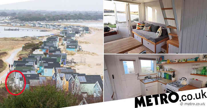 Dorset beach hut is up for sale for £325,000… and it doesn't even face the sea