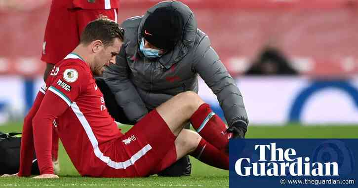 Liverpool's Jordan Henderson faces six to eight weeks out after groin surgery