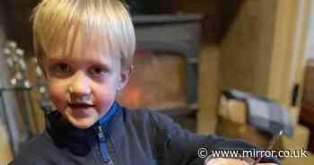 Mum in hysterics as tot cuts his own hair because he 'looked like Boris Johnson'
