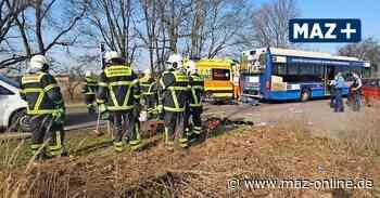 Schönefeld-Waltersdorf: Unfall mit Bus und Motorradfahrer - Märkische Allgemeine Zeitung