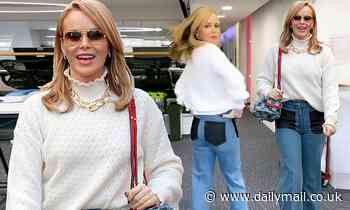 Amanda Holden steps out in pair of £450 Victoria Beckham flares